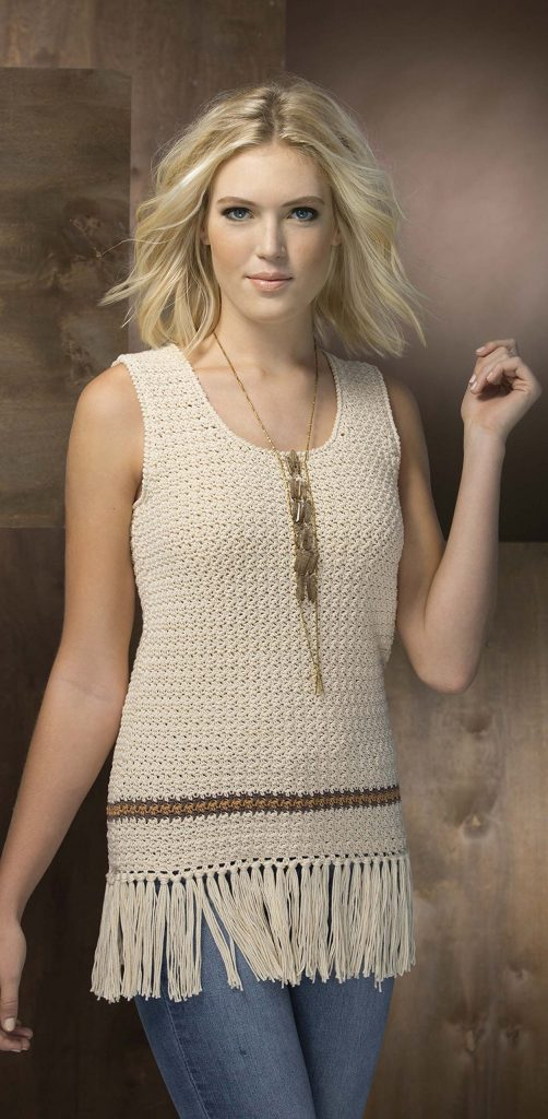 Scoopneck Top from Fringe Benefits - book review by Ambassador Crochet.