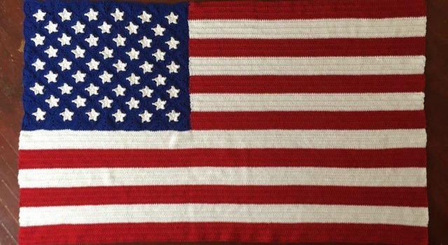 American Flag Afghan Crochet Pattern