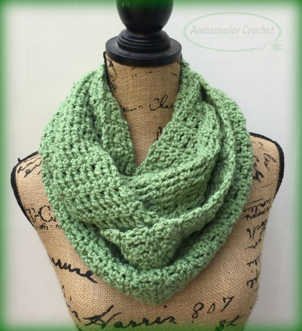 The Astoria Infinity was designed for A Heart for the Homeless donations and is a free pattern by Ambassador Crochet.