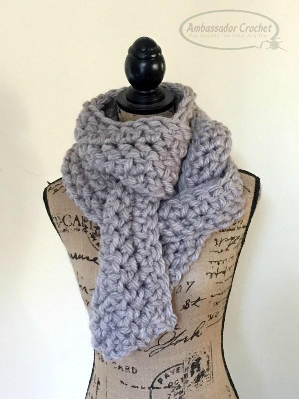 Oversized HHDC scarf - free crochet pattern by Ambassador Crochet.