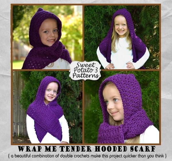 Wrap Me Tender Hooded Scarf by Sweet Potato 3