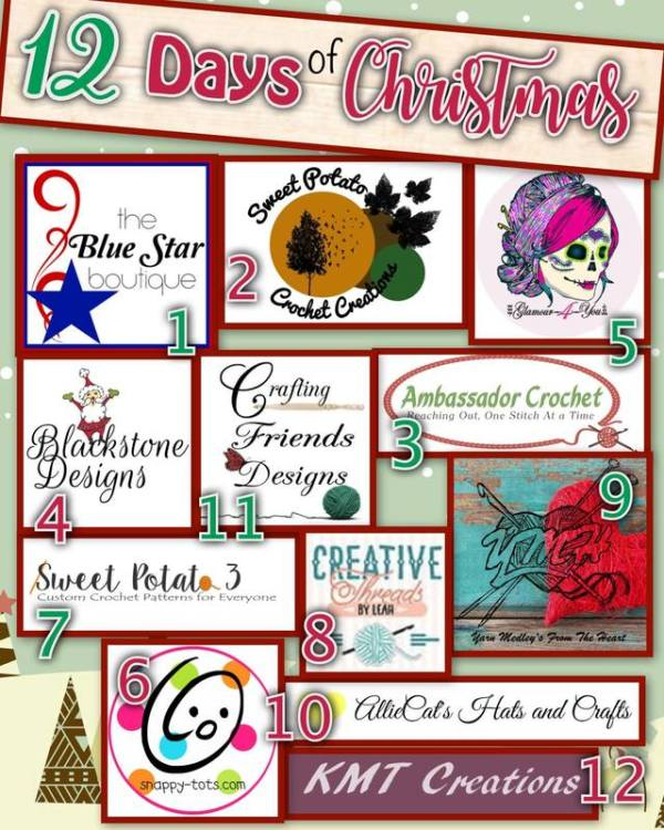 12 Days of Christmas 2018 - hosted by The Blue Star Boutique