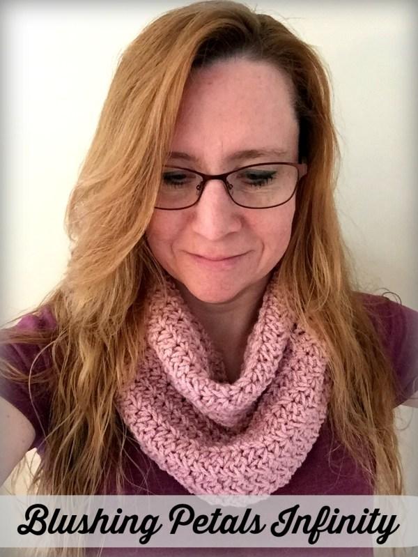 Blushing Petals Infinity - free crochet pattern by Ambassador Crochet.
