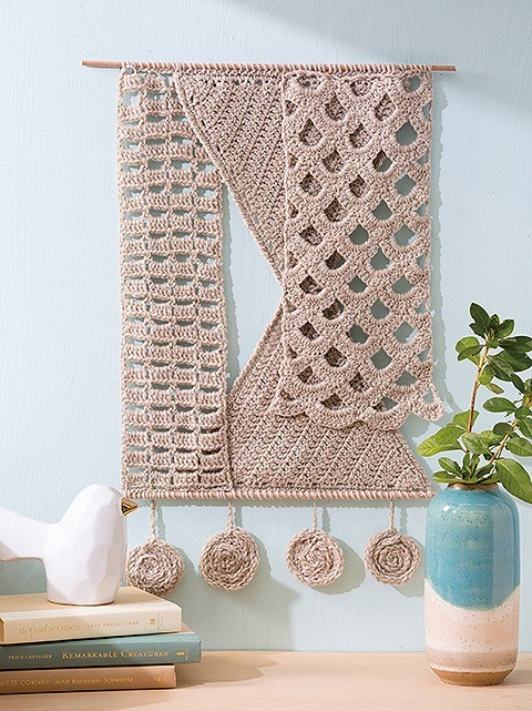 Windy Sails - Wall Hanging crochet book review.