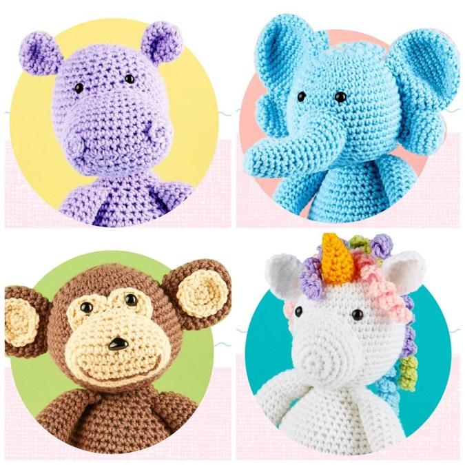 Cute Amigurumi Animals: 16 adorable creatures to crochet: Eleonore ... | 675x675