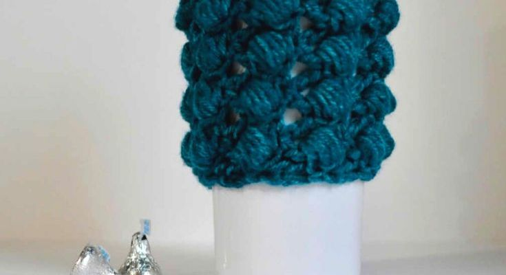 Berry Bliss Coffee Cozy Crochet Pattern
