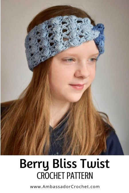 The Berry Bliss Earwarmer is a fun crochet pattern that is full of texture.