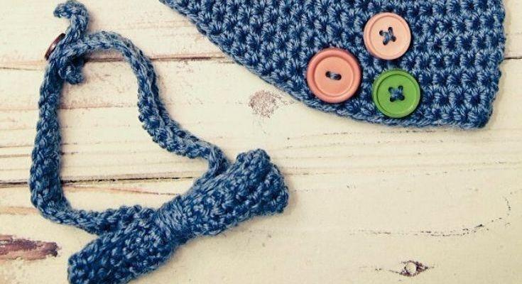Baby Bowtie & Beanie Free Crochet Pattern Set