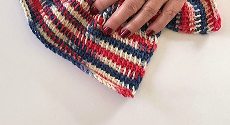 Tunisian TSS Dishcloth – Free Crochet Pattern