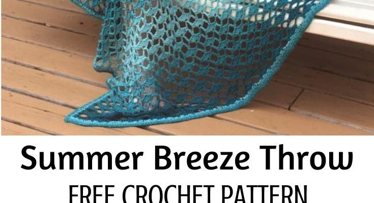 Summer Breeze Throw Free Crochet Pattern