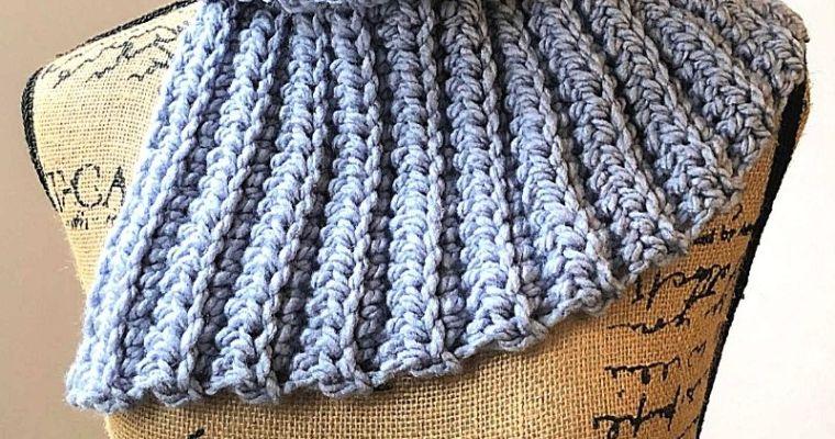 Quick & Easy Split Neck Cowl – Free Crochet Pattern