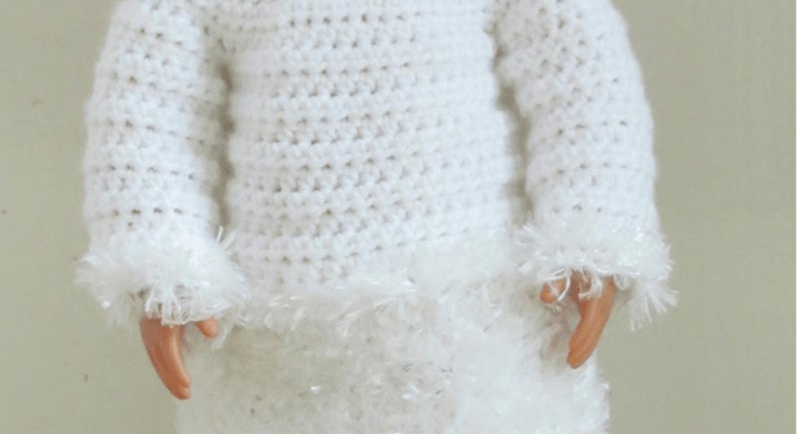 18″ Doll Outfit – Snow Day Sweater & Skirt Set