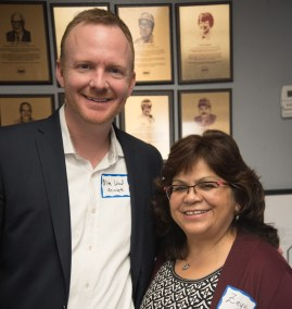 Mike Wood -- Aerotek and Zeydi Gutierrez -- ABI Foundry
