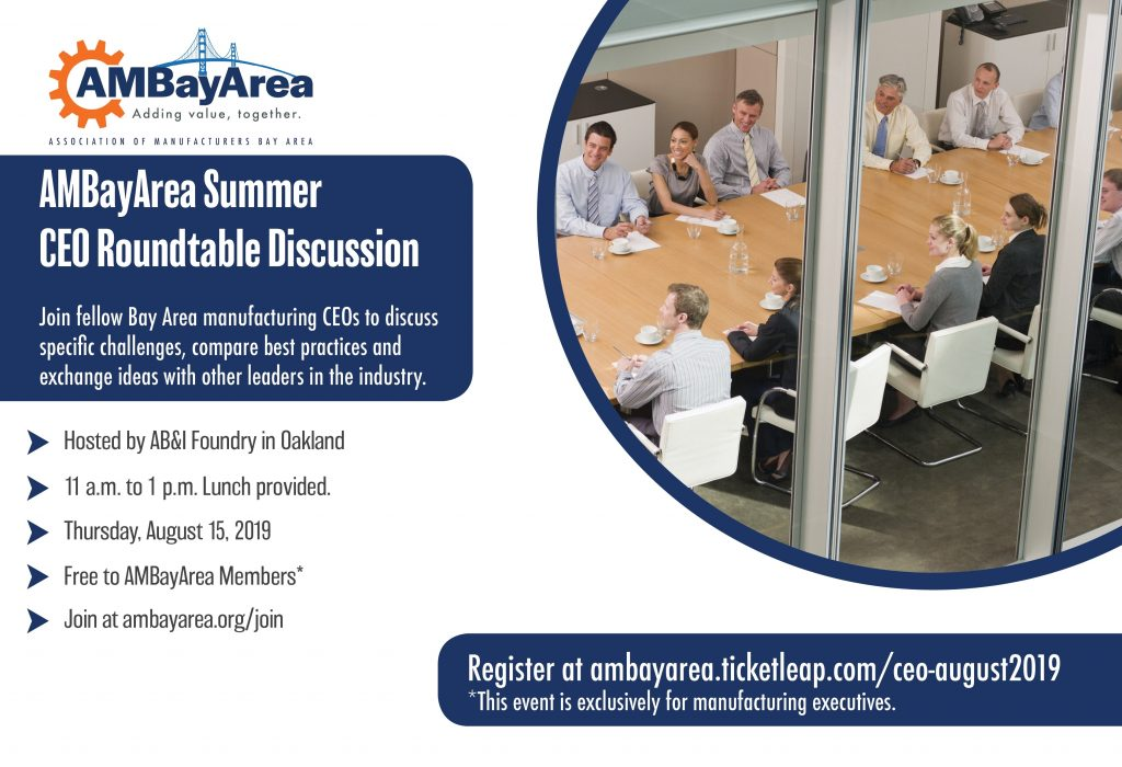 AMBayArea Summer CEO Roundtable August 2019