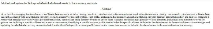 Resumen de la patente adquirida por MasterCard ||  Fuente: Oficina de Patentes y Marcas de los Estados Unidos