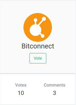 BitConnect voted to be listed on the exchange platform | Source: Aiodex
