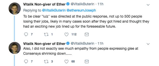 Vitalik Buterin's clarification on his previous statement | Source: Twitter