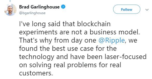 Brad Garlinghouse's tweet   Source: Twitter