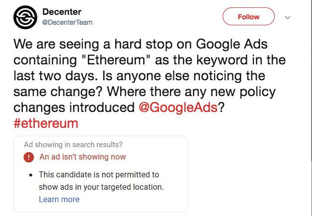 Decenter's statement | Source: Twitter