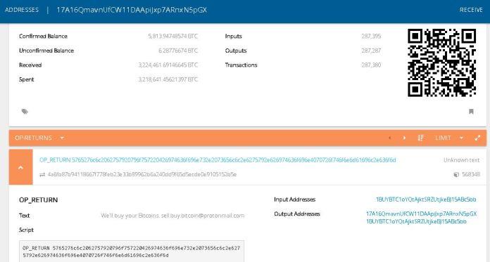 OP_Return Transaction Source: Smartbit.com