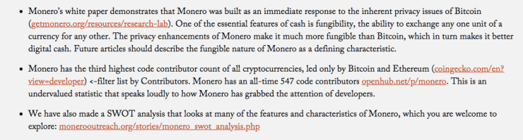 Features and characteristics that make Monero great and popular | Source: Monero Outreach