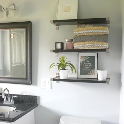 Bathroom Shelves – Master Bath Update