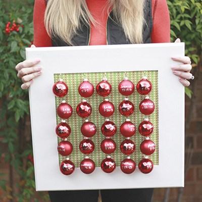 Mini Ornament DIY Advent Calendar