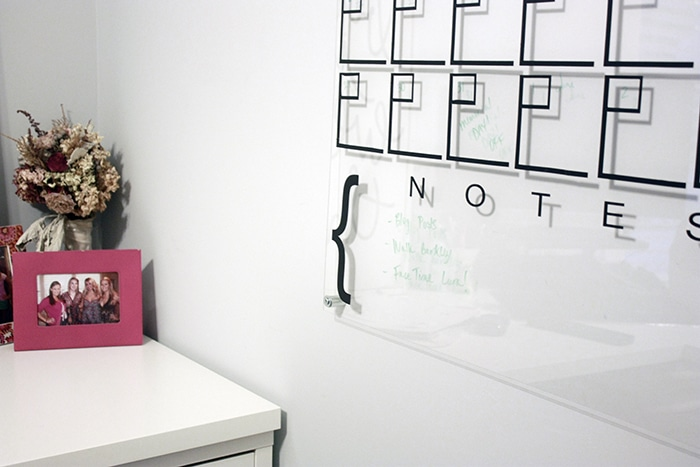 One Room Challenge Week 5 Diy Acrylic Calendar