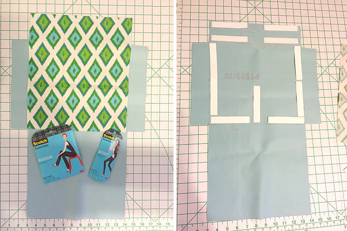 Scotch™ Essentials Wardrobe Tape Strips to adhere liner to no sew clutch by Amber Oliver
