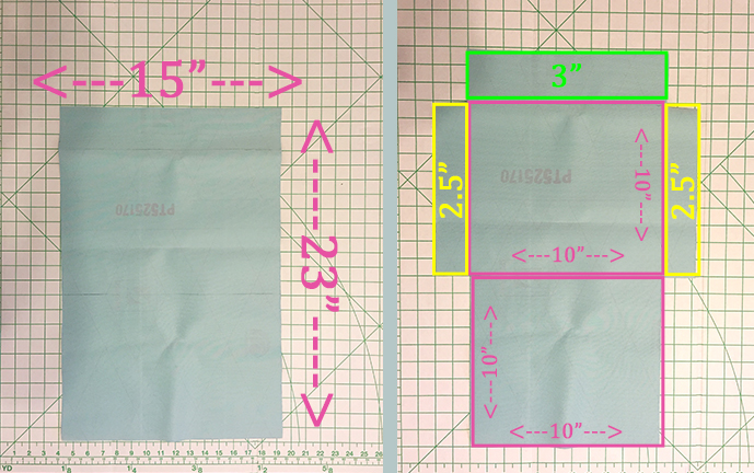 No Sew Clutch Measurements by Amber Oliver