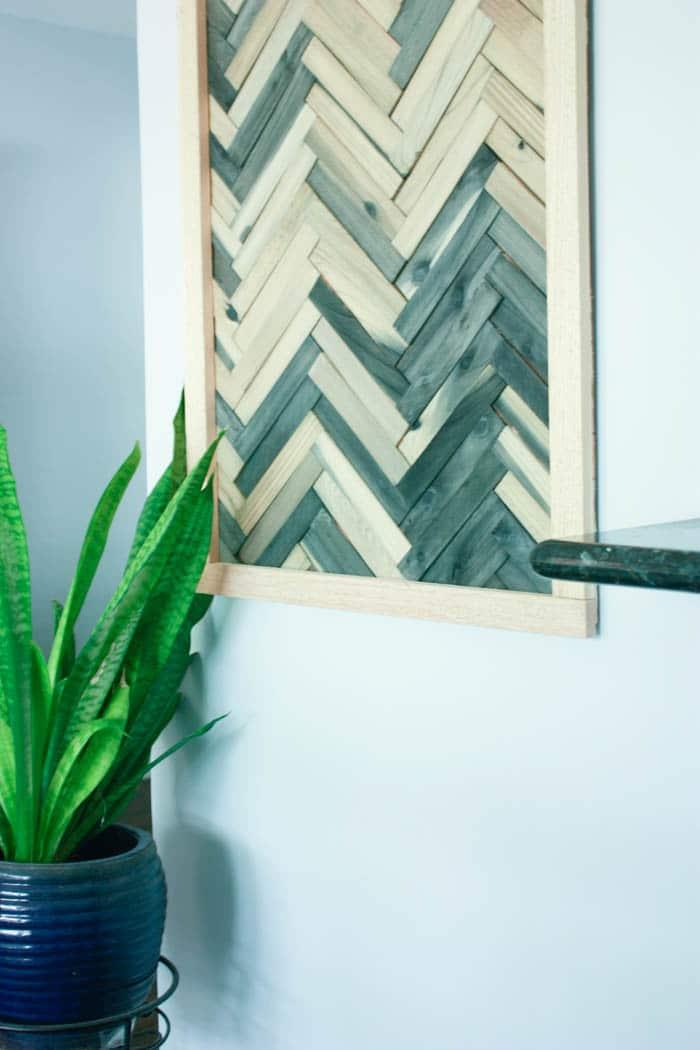 DIY Wall Art - Cheap and Easy Wall Art Using Wood Shims on Pinterest Wall Decor  id=74963