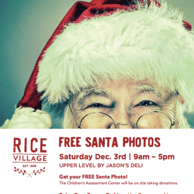 Santa Photos + Event at Rice Village