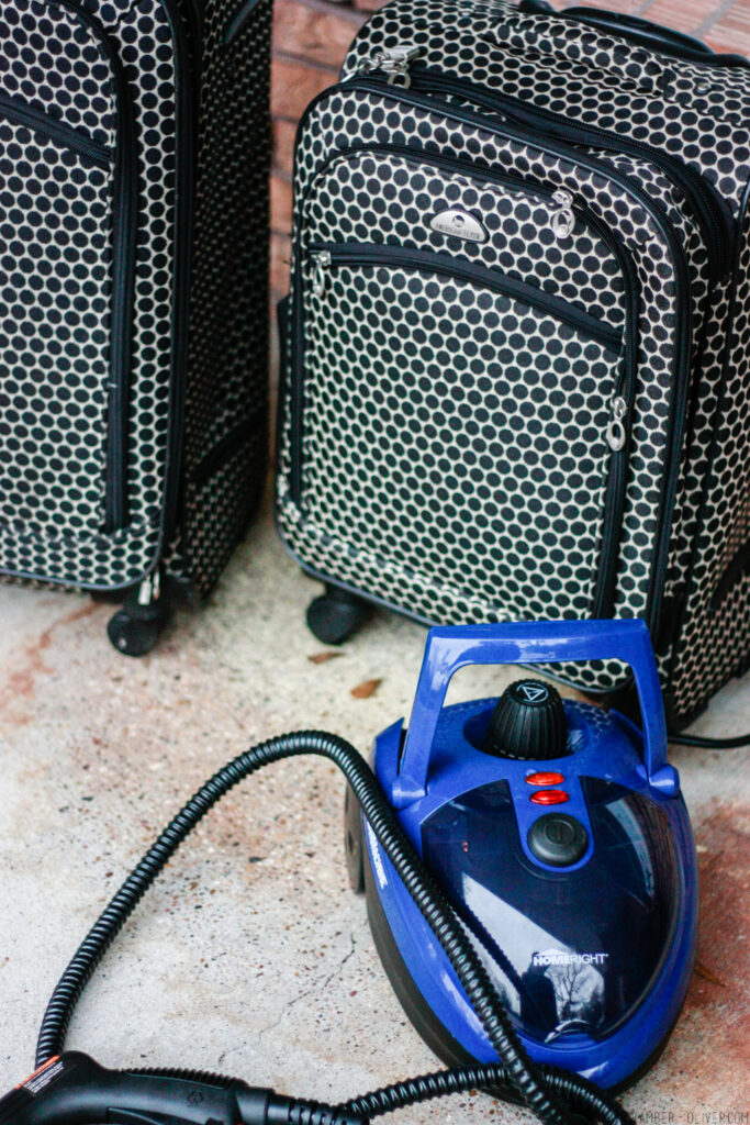How To Clean Luggage with Homeright SteamMachine
