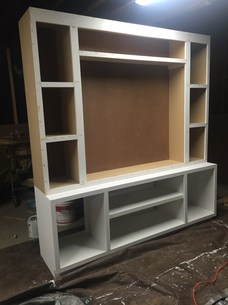 DIY Entertainment Center Plans and Cut List!