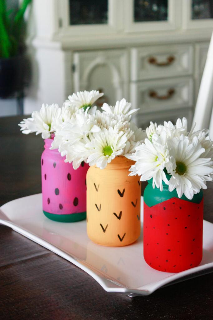 Mason Jar Crafts: Fruit Themed Jars