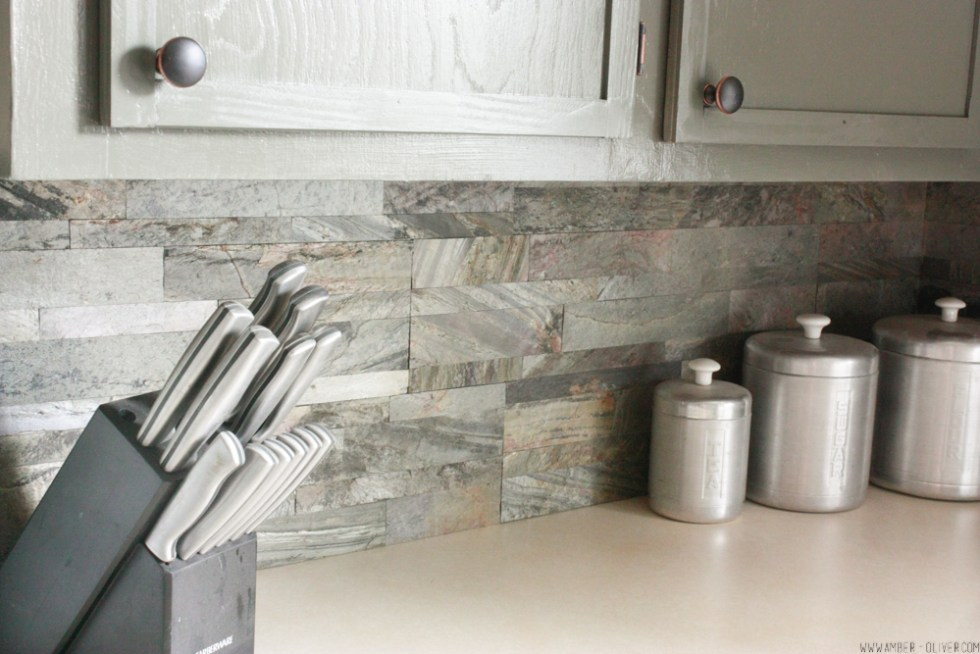 Diy backsplash how to install peel and stick backsplash - How to replace backsplash ...