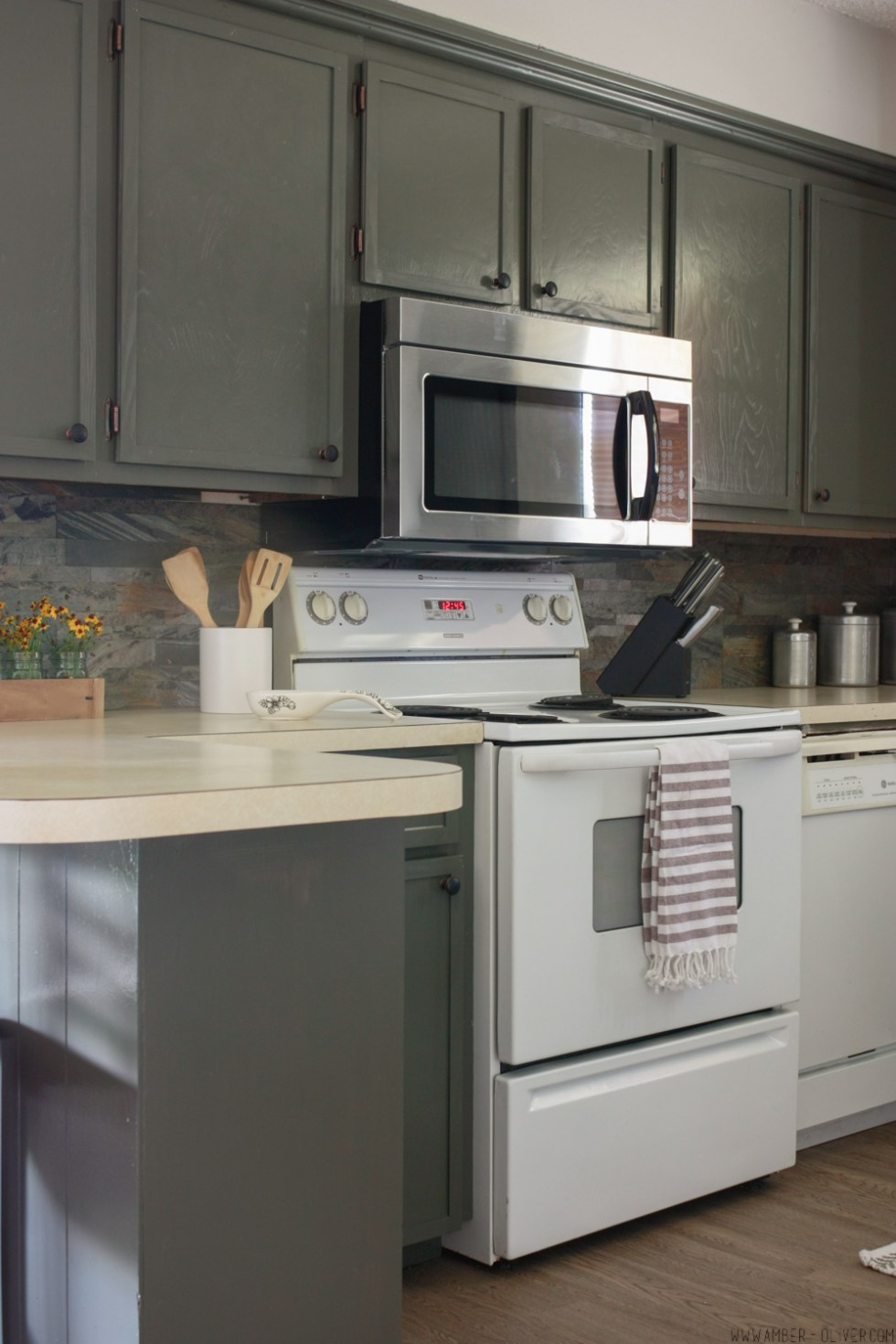How To Update Old Kitchen Cabinets - Kitchen remodel on a budget!