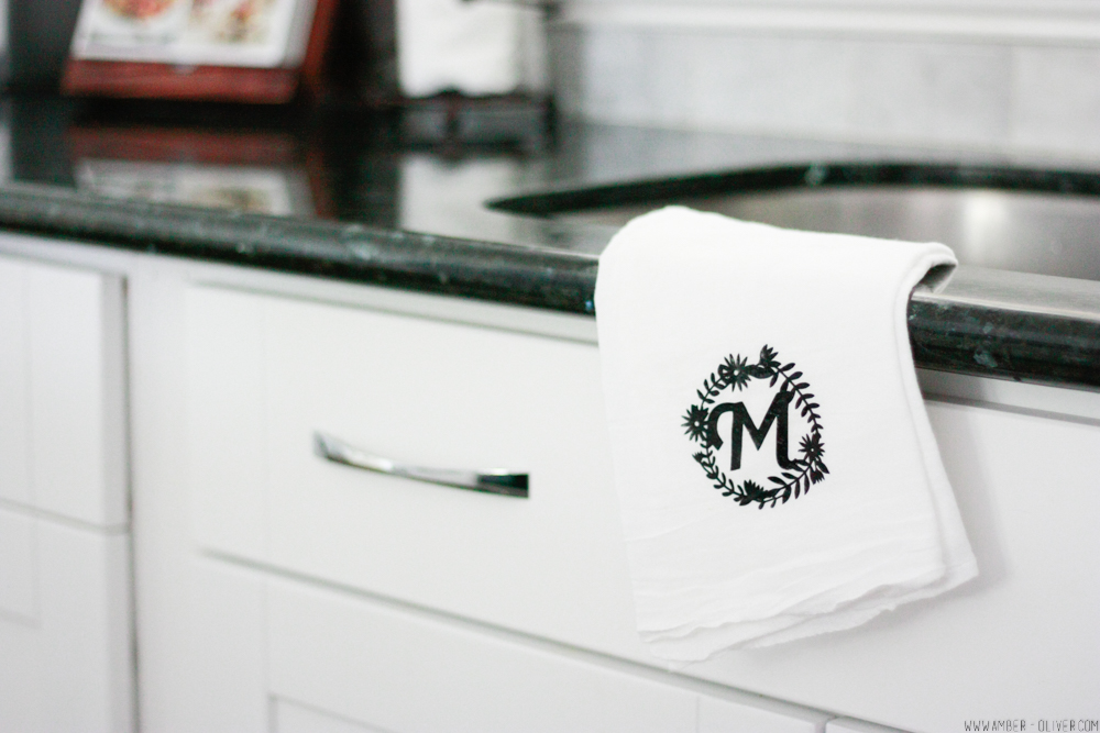 Easy DIY Monogram Tea Towel