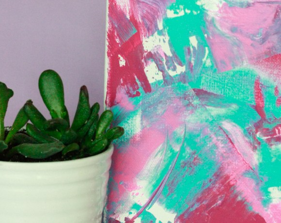 Paint Scraped Wall Art- DIY Wall Art