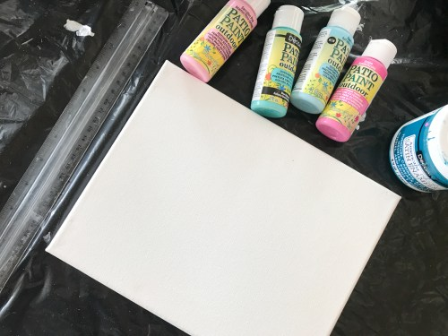 Paint Scraped Wall Art DIY Wall Art