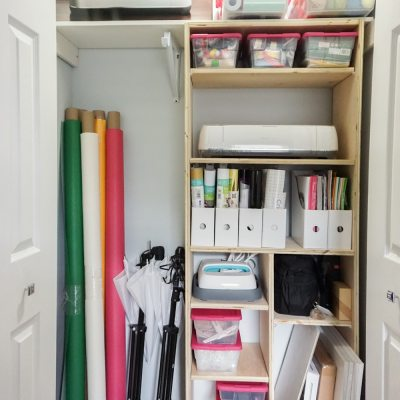 DIY Closet Shelves – Craft Closet Organization!