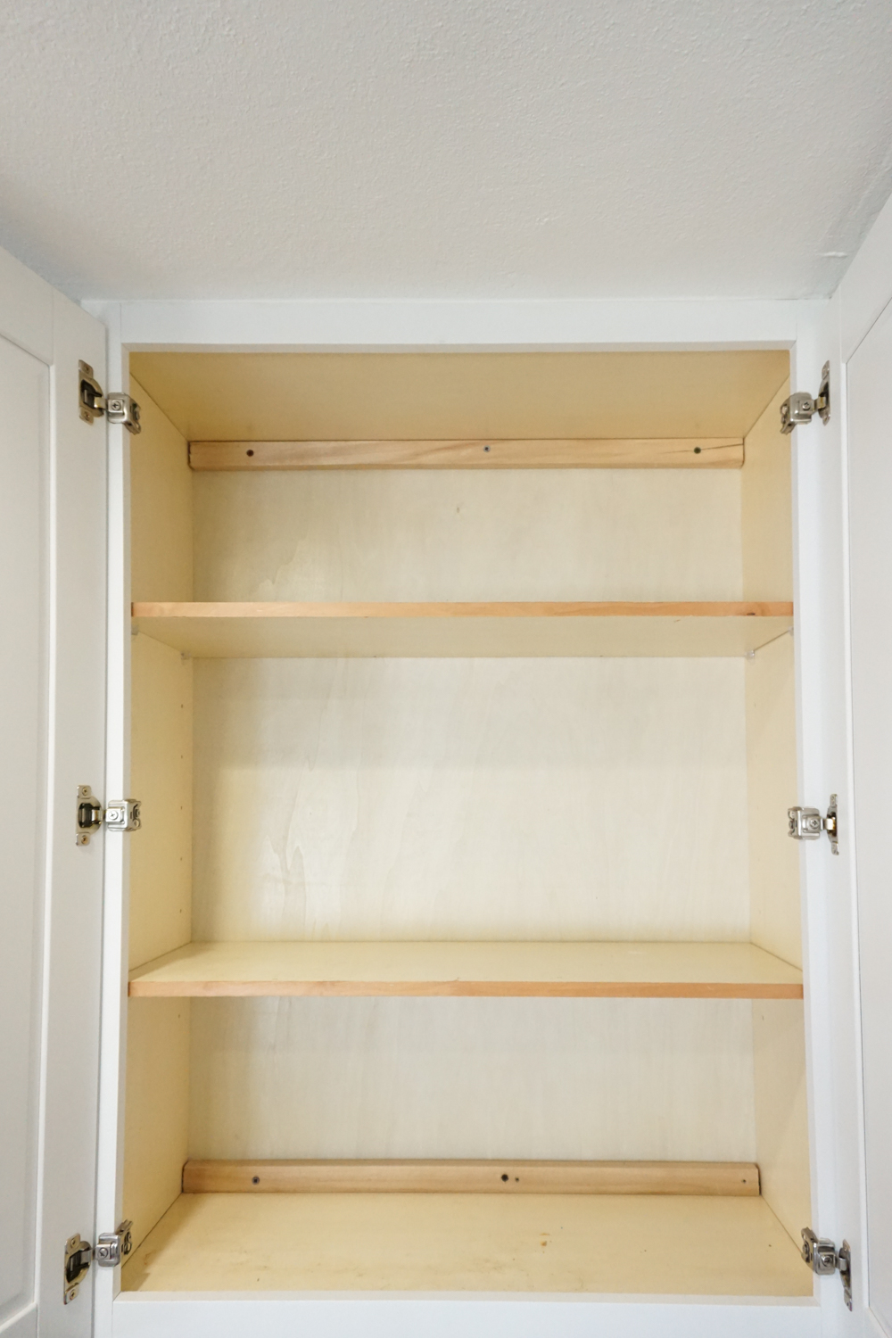 The Empty Cabinet   Organizing Baking Supplies Is Easy With Cork Tiles,  Command Hooks,
