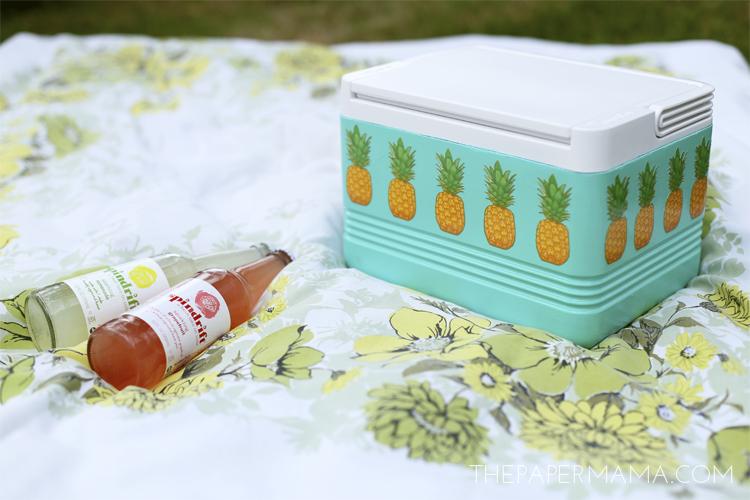 pineapple picnic cooler