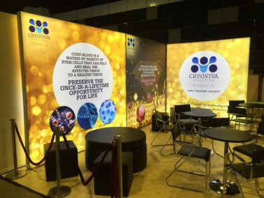 Backlit Fabric Exhibition Stand