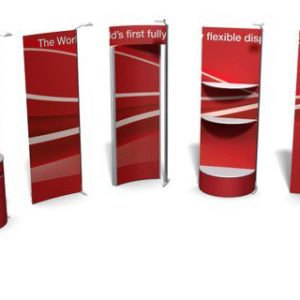 Exhibition Stand Rental: ISOframe Wave Backdrop Rental Module Options