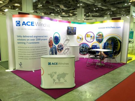 Exhibition Stands made from ISOframe Wave & Mark Bric Display