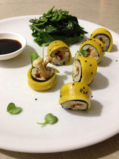 dragon roll with mango