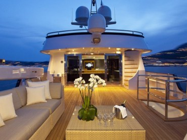 Super yacht exterior furniture design