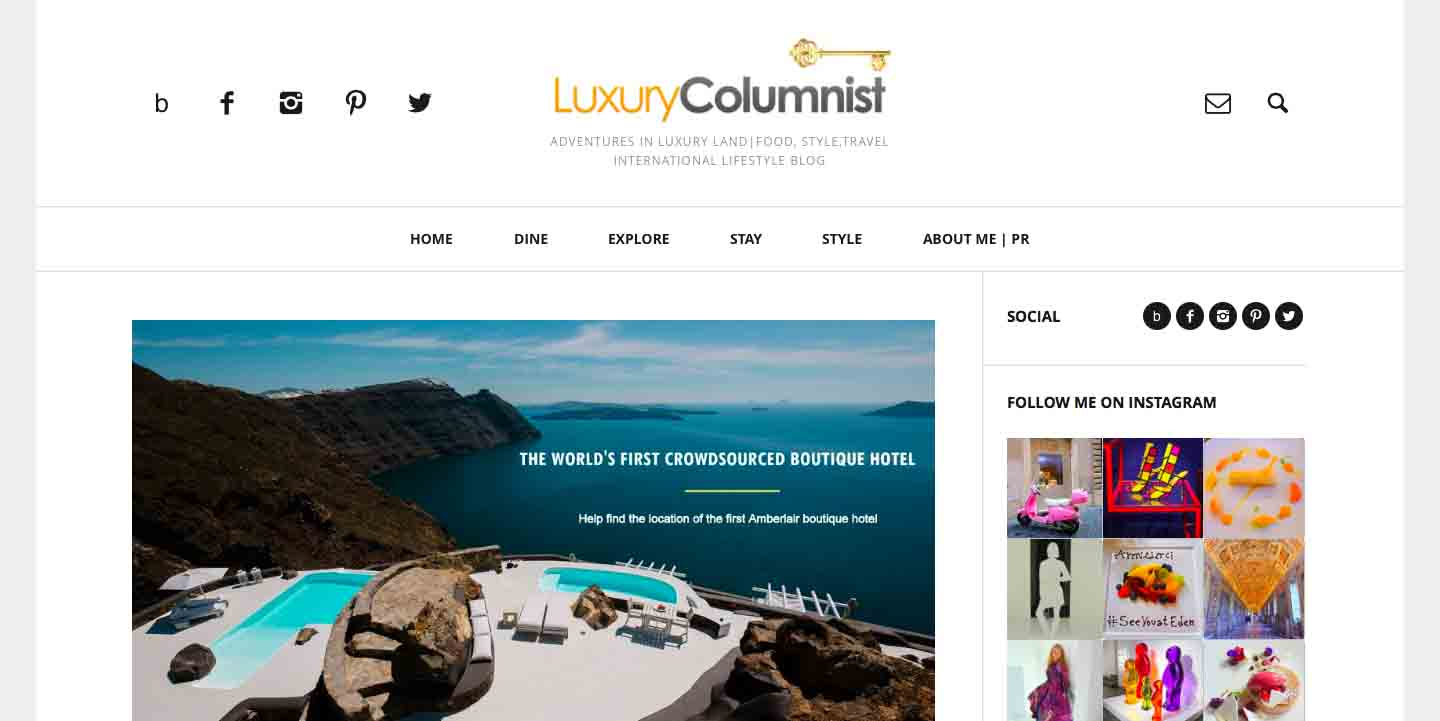 Amberlair Crowdsourced Crowdfunded Boutique Hotel - Suze from Luxury Columnist