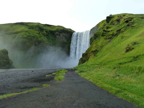 A waterfall close to Vik in Iceland